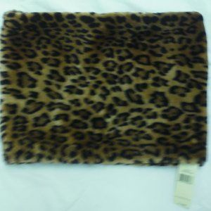 Faux Fur Cowl Leopard Collection Eighteen NWT